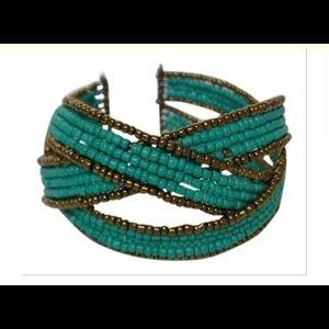 Turquoise handmade cuff bracelet